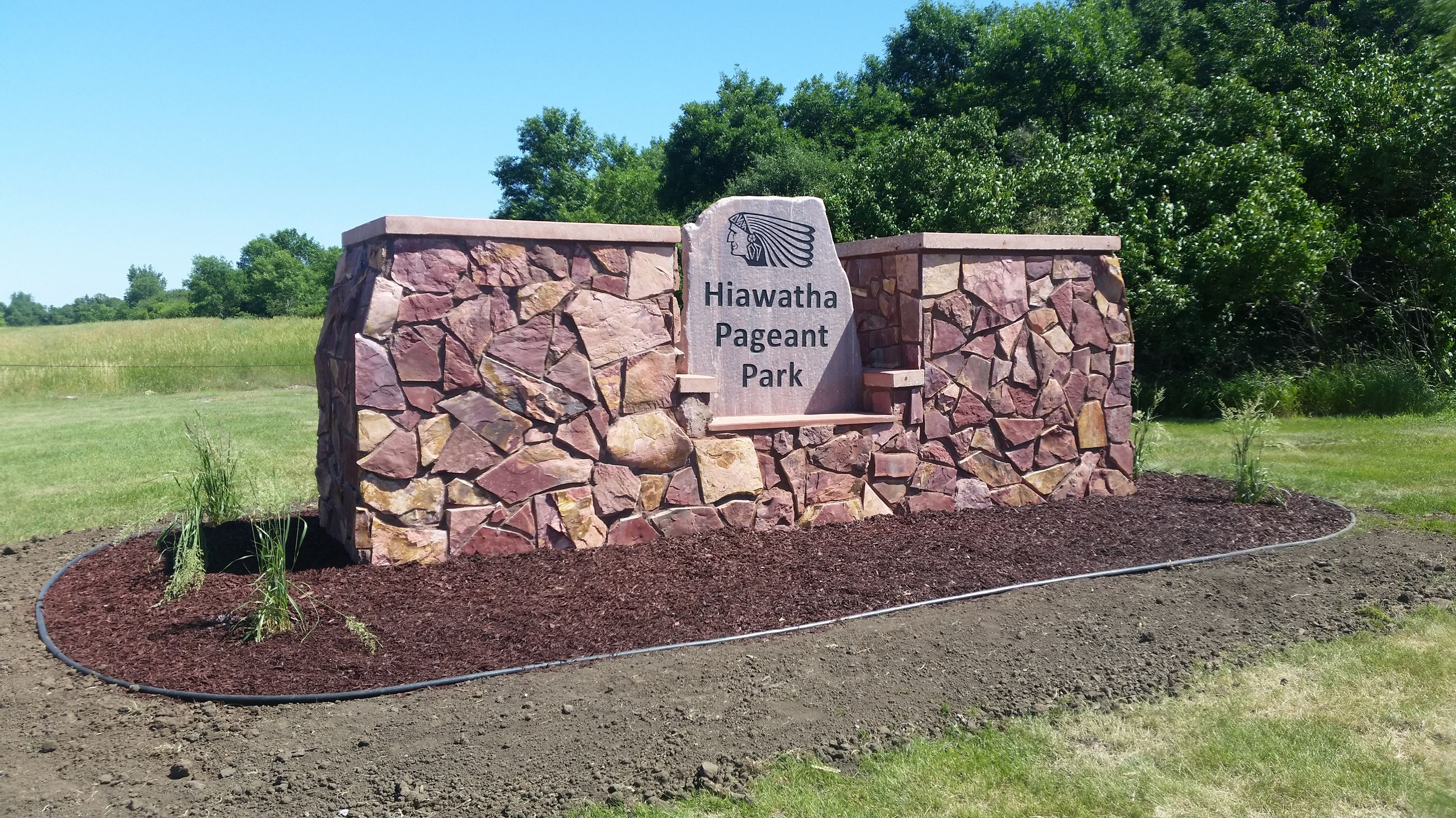 Hiawatha Lodge Entrace Sign