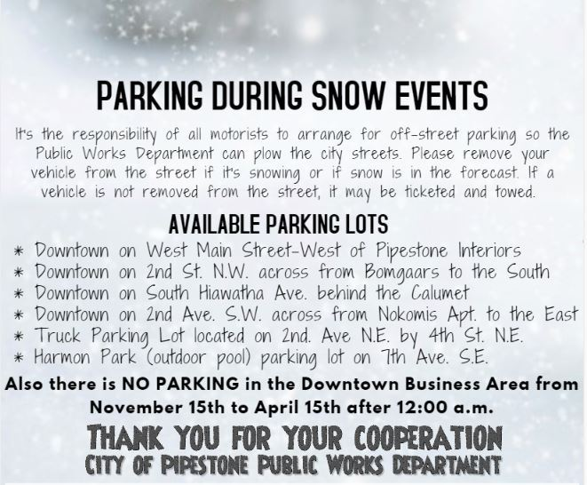 Parking During Snow Events