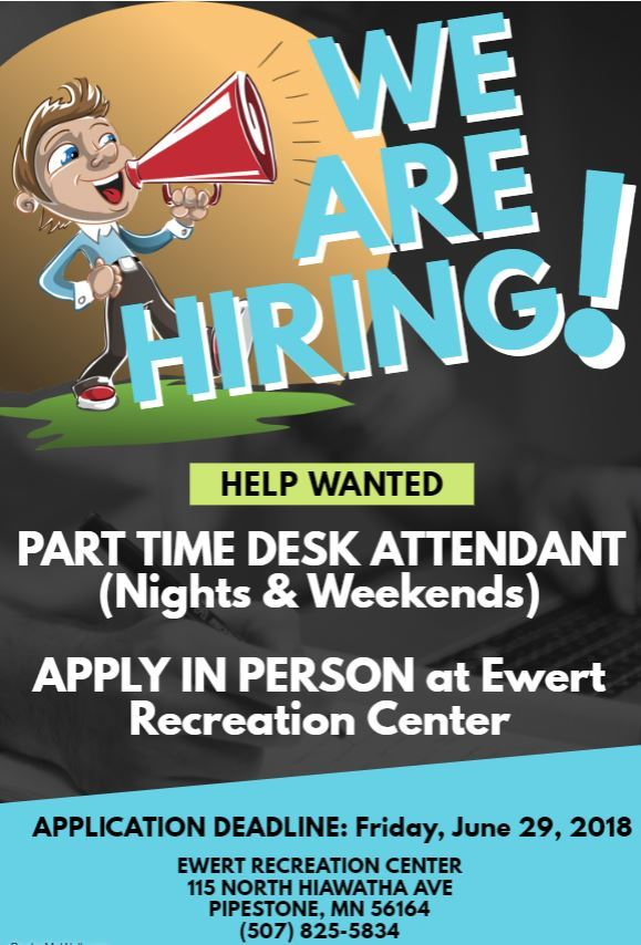 Help Wanted-Desk Attendant