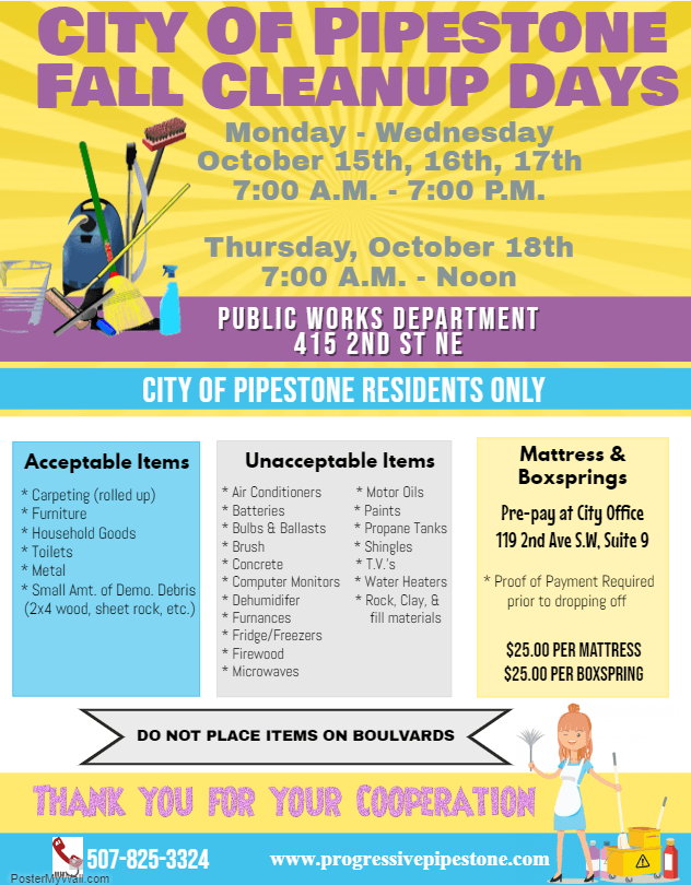 2018 Fall Clean up